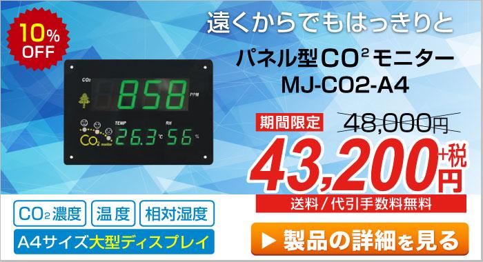 パネル型CO2モニター MJ-CO2-A4
